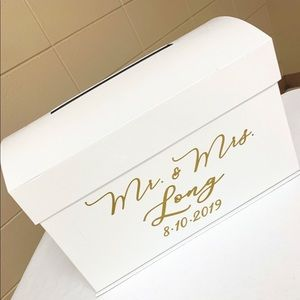 WEDDING CARD BOX (NAME CAN BE PEELED OFF)